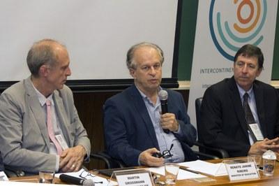 Martin Grossmann, Minister Renato Janine Ribeiro and José Eduardo Krieger