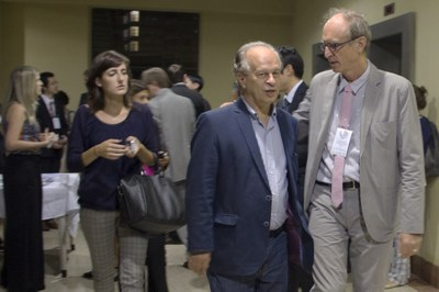 Minister Renato Janine Ribeiro and Martin Grossmann at the opening of the Intercontinental Academia - April 17, 2015