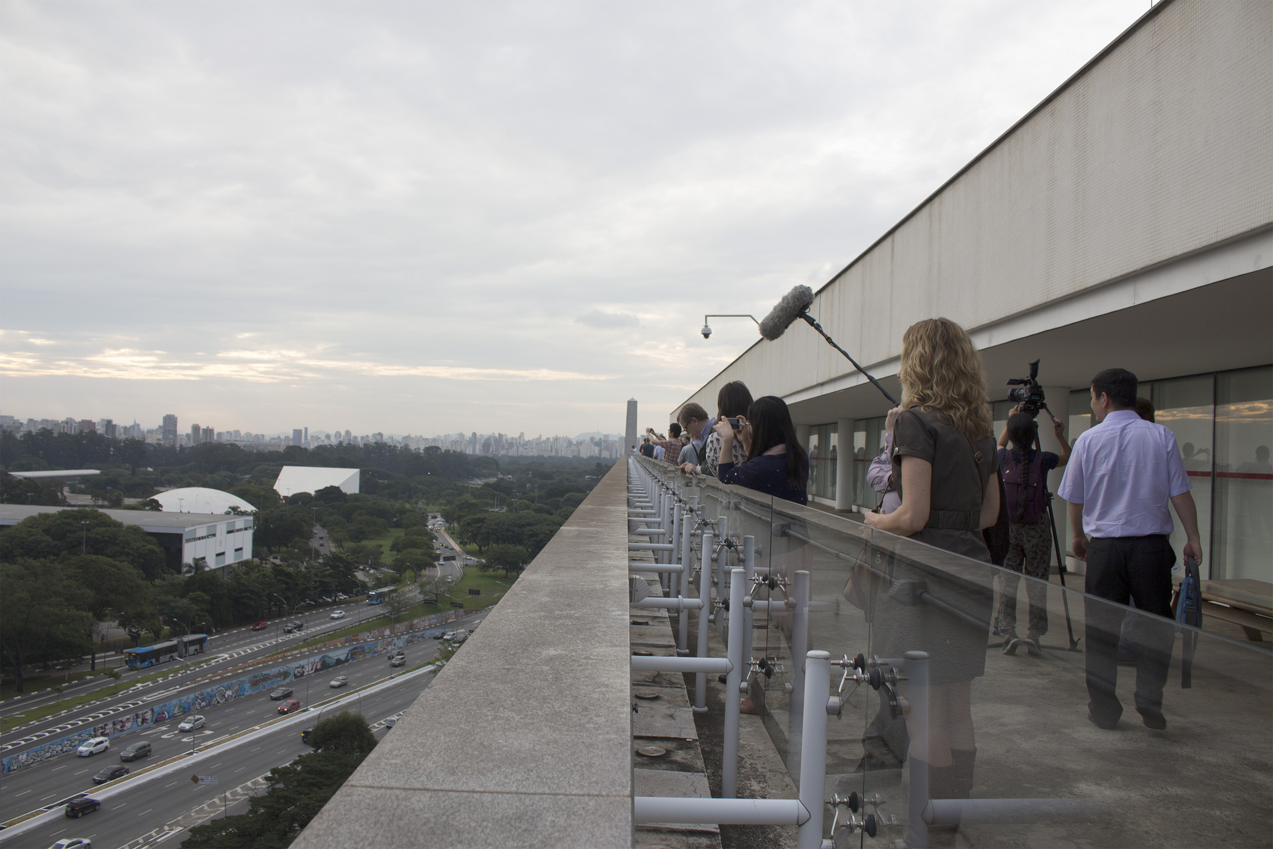 Ibirapuera Park view from the top of MAC-USP - Scientific and cultural tour: USP and Modernist São Paulo - April 18, 2015