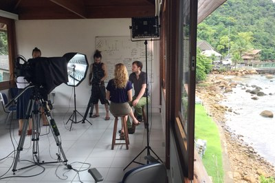 MOOC filming session in Ubatuba