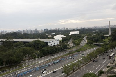 Ibirapuera Park from the top of MAC-USP - Scientific and Cultural Tour USP and Modernist São Paulo - April 18, 2015