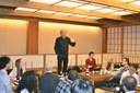 Martin Grossmann speaking at the Kisoji Yagoto Restaurant
